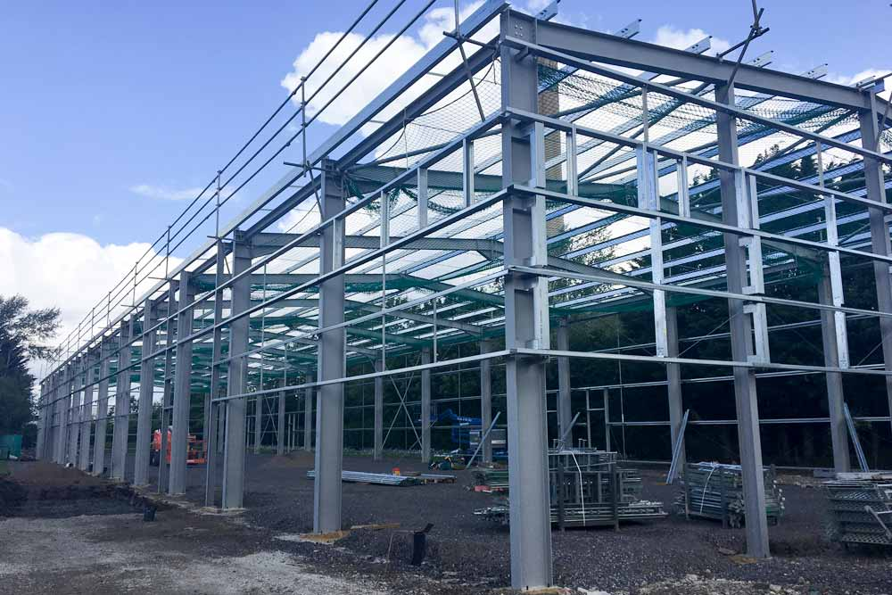 Frame erected (May 2017)